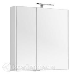 Зеркало-шкаф Aquanet Августа 90 белый
