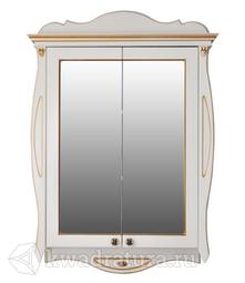 Зеркало-шкаф Atoll Ривьера 80 белый/золото