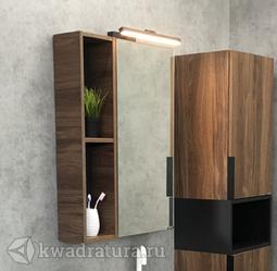 Зеркало-шкаф Comforty Штутгарт 60 темно-коричневый