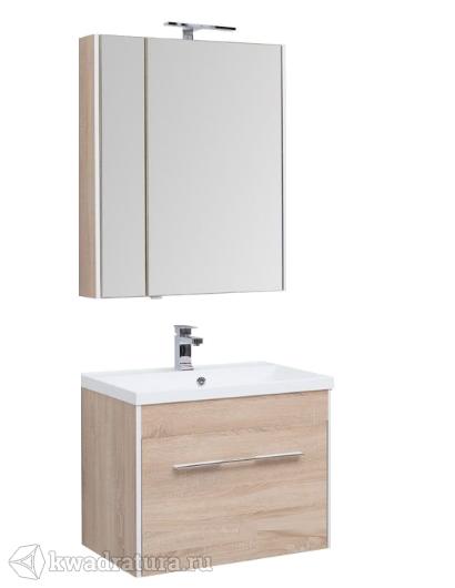 Комплект мебели для ванной Aquanet Августа 75 дуб сонома