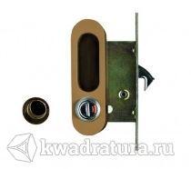 Ручка с механизмом Archi для раздвижной двери античная бронза