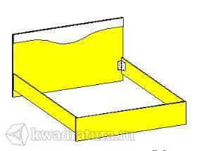 Спальня Эстель Кровать 2000х1600