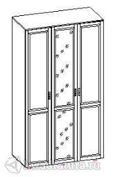 Спальня Паула Шкаф трехстворчатый с зеркалом